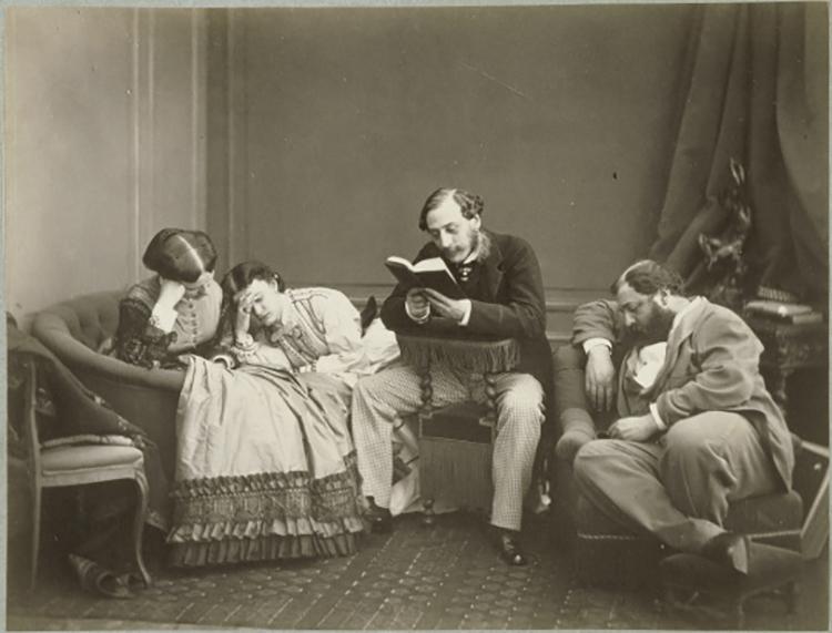 Olympe Aguado, La lectura, fotografía